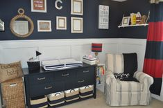 Nautical Nursery - great decor items from @potterybarnkids!