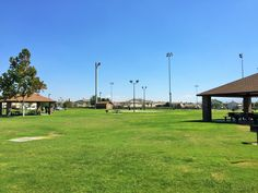 The two picnic shelters at Providence Ranch Park in Eastvale, California. http://youreastvalerealtor.com/eastvale-parks/