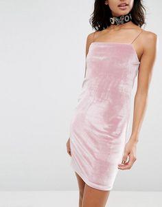 ASOS Square Neck Velvet Mini Dress