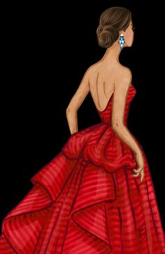 New Ideas Fashion Ilustration Gown Moda Look Fashion, Fashion Art, Girl Fashion, Fashion Design Drawings, Fashion Sketches, Fashion Illustration Dresses, Fashion Illustrations, Megan Hess, Girly Drawings
