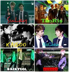 only six exo couples.... There are so many!!!!! But my favorites are Hunhan, Taoris and Baekyeol <3 <3 <3
