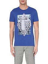 HUGO BOSS Printed cotton-jersey t-shirt