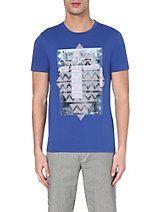 HUGO BOSS Printed cotton-jersey t-shirt