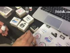 Sneak Peek of the Silhouette Mint in action creating a custom stamp! - YouTube