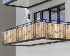 """Balkonbanner """"Holzzaun"""" Banner, Outdoor Furniture, Outdoor Decor, Outdoor Storage, Garage, Home Decor, Wooden Fence, Stairways, Banner Stands"""
