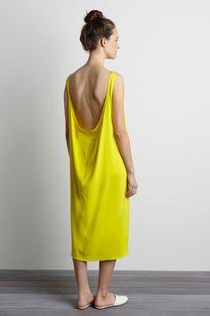 Core Dress - Citron | Emerson Fry | @andwhatelse