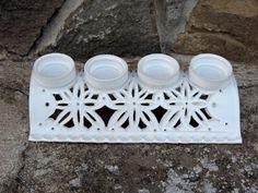 Adventní svícen - bílý / Zboží prodejce Keramika AP | Fler.cz Villa, Dog Bowls, Christmas Clay, Ideas, Villas