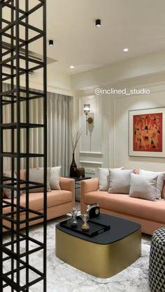 Living Room Partition Design, Living Room Sofa Design, Bedroom Furniture Design, Living Room Designs, Bedroom Decor, Beige Living Rooms, Decor Home Living Room, Living Room Interior, Home Decor