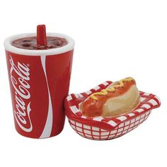 Coca-Cola and Hot Dog Salt and Pepper Shakers