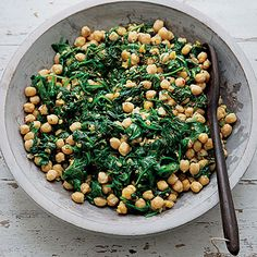 Slow-Cooker Chickpeas with Cumin and Spinach: Cover and refrigerate leftovers within 2 hours of making (let cool first). | Health.com