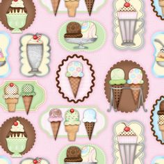 Fabric Store - What's the Scoop? - ML247220 - Pink