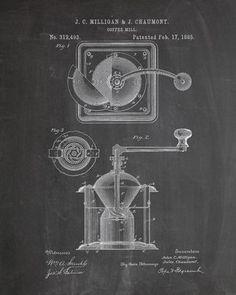 Coffee Grinder Patent Print - IndustrialPrints