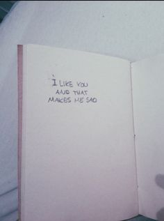Only you/ I like you and that makes me sad