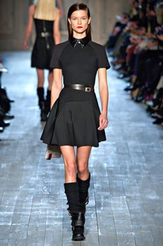 Superfitted. That adjective resounded strongly and clearly—and beautifully—in the collection Victoria Beckham presented Sunday. No doubt in part inspired by her sons and that one hunk of a husband, the clothes held a sportif aesthetic from start to finish.