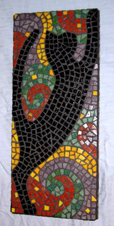 Black cat mosaic by Linda Pieroth Smith Mosaic Pots, Mosaic Diy, Mosaic Garden, Mosaic Crafts, Mosaic Projects, Mosaic Wall, Mosaic Glass, Mosaic Tiles, Pebble Mosaic