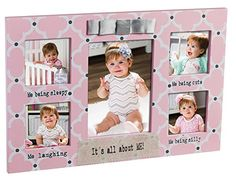 Everyday All About Me Pink Quatrefoil Wood Picture Frame -- Check out the image by visiting the link.