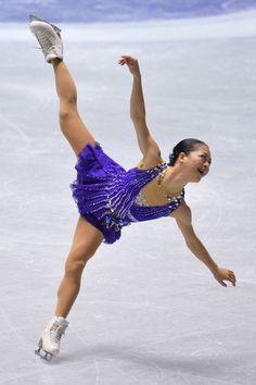 Akiko Suzuki of Japan Short Program   2013/2014 NHK Trophy -Purple Figure Skating / Ice Skating dress inspiration for Sk8 Gr8 Designs