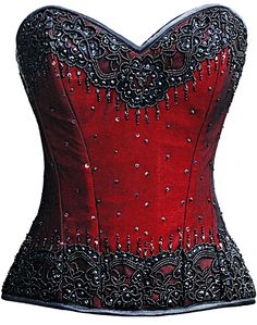 The Violet Vixen - Burlesque Glimmer Red Beaded Corset, $144.00 (http://thevioletvixen.com/corsets/burlesque-glimmer-red-beaded-corset/)