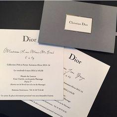 Dior fashion show invitation Dior Fashion, Fashion Week, Fashion Brand, Trendy Fashion, Fashion Design, Invitation Card Design, Invitation Cards, Invitations, Dior Collection