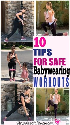 Discover the benefits of babywearing, safely considerations when babywearing for both mom and baby, appropriate ages for babywearing workouts, how to wear your baby safely, how to protect your back and my favorite carriers for babywearing workouts. Postpartum Workout Plan, Postpartum Body, Help Losing Weight, Lose Weight, Body After Baby, Baby Workout, Low Impact Workout, Pelvic Floor, Mom And Baby