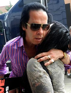 Nick giving me a hug ( He kissed me and remembered my name. It was a miracle. Red Right Hand, The Bad Seed, Nick Cave, Lucky Ladies, Post Punk, Tbs, Fifty Shades, Music Bands, Darkness