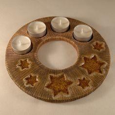 Výsledek obrázku pro keramický adventní věnec