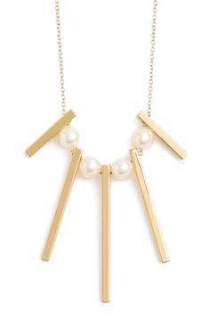 Rebecca Minkoff Bead & Bar Necklace - $68