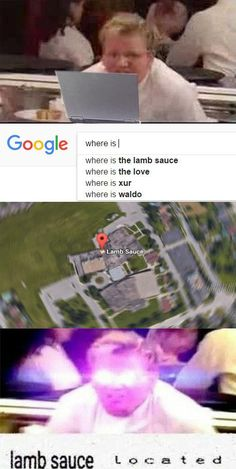 Where is he lamb sauce lamb sauce located #Gordon Ramsay W H Y I S T H I S S O F U N N Y | funny memes
