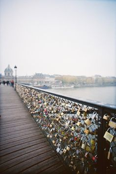 I want to go to this bridge so bad. You take a lock and put you and your bestfriend, boyfriend,or girlfriends name on the lock and throw the key in the river and it will stay there forever. So even if the relationship or friendship may end it will always represent a special person in your life.