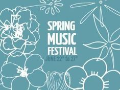 Blue and white floral spring music festival vent advertisement template. Easy to edit in Design Wizard.