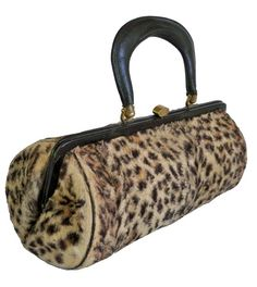 1950s Faux Leopard Fur Purse - love! #vintage #fashion #handbags