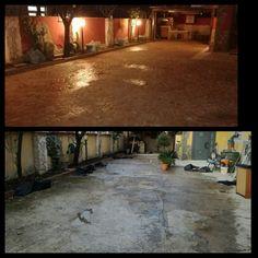 Pavimentazione esterna su massetto degradato ed irregolare