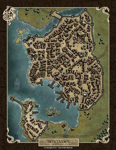 Fantasy Map Making, Fantasy City Map, Fantasy World Map, Fantasy Town, Dark Fantasy, Dungeons And Dragons Homebrew, D&d Dungeons And Dragons, Plan Ville, Dnd World Map