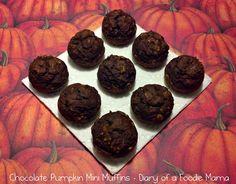 Diary of a Foodie Mama: Chocolate Pumpkin Mini Muffins