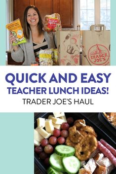 Looking for some cheap and easy lunch ideas? I LOVE shopping at Trader Joe's so I thought I would take you with me and show you my haul!  #easyteacherlunches #traderjoes #traderjoeshaul #easylunch #haul