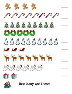 This one-page, colorful Christmas activity can be used to assess both counting (1-10) and number writing.