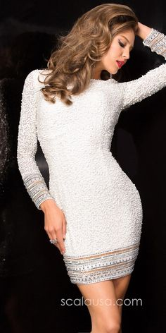 Scattered Sequin Cocktail Dress by Scala #edressme