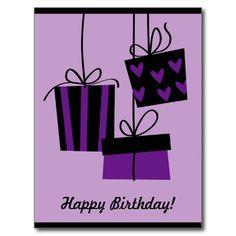 happy bithday - purple Postcard
