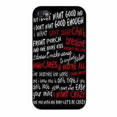 Hunter Hayes Quotes Lyric iPhone 4/4s Case