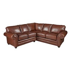 HGTV HOME Custom Upholstery Large L-Shaped Sectional - Leather #bassettfurniture #sectional