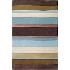 @Overstock - This striped hand-tufted wool rug features big, bold stripes in fun, modern colors. Gone are the boring, standard rugs that fade into the background. The comfortable and lasting craftsmanship in this rug will make it a treasured piece.http://www.overstock.com/Home-Garden/Hand-tufted-Brown-Striped-Rug-8-x-11/5509842/product.html?CID=214117 $299.99