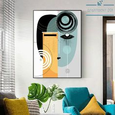 Online Shop Abstract Vintage Figure Wall Art Canvas Painting Geometric Posters and Prints Pictures for Living Room House Interior Decor Black Canvas Art, Black Wall Art, Abstract Canvas Wall Art, Wall Canvas, Canvas Prints, Acrylic Wall Art, Diy Canvas, Art Prints, Large Wall Art