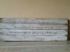 The notebook handmade handpainted wood pallet sign I love you