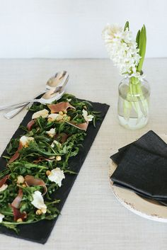 Handcrafted Slate Canapé Board $29.95 by Annabell Stone, available online at www.annabellstone.com.au . Photography by Elise Hassey Canapes, Slate, Stoneware, Artisan, Table Decorations, Board, Photography, Collection, Home Decor