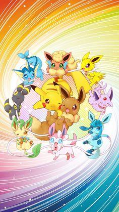 "It's a ""Pik-eevee""! Pokemon Comics, Pokemon Memes, Cute Pokemon Wallpaper, Cute Cartoon Wallpapers, Arte Do Kawaii, Kawaii Anime, Kawaii Drawings, Cute Drawings, Pokemon Backgrounds"
