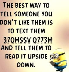 "These ""Top Minion Quotes On Life – Humor Memes & Images Twisted"" are so funny and hilarious.So scroll down and keep reading these ""Top Minion Quotes On Life – Humor Memes & Images Twisted"" for make your day more happy and more hilarious. Minion Humour, Funny Minion Memes, Minions Quotes, Stupid Funny Memes, Funny Relatable Memes, Funny Texts, Farts Funny, Hilarious Jokes, Epic Texts"