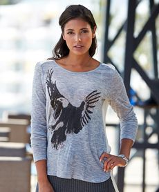 Kaffe Eagle genser fra Sportmann.no Graphic Sweatshirt, T Shirt, Eagle, Sweatshirts, Long Sleeve, Sleeves, Sweaters, Mens Tops, Fashion