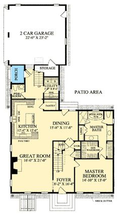 Plan 32514WP: Cape Cod With Open Floor Plan. Minor adjustments and i this could work.