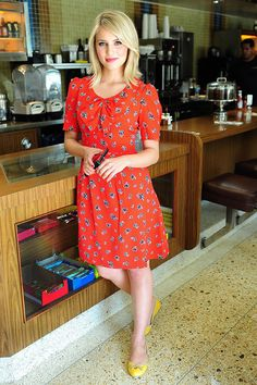 Diana Argon; adorable dress and shoes