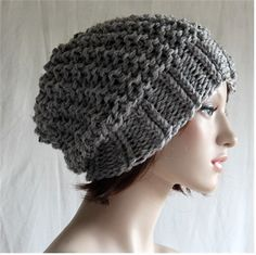 Womens Slouchy Hats Knitted  Womens Slouchy by endlesscreation